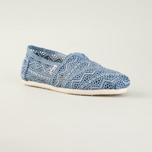 Toms Denim Crochet Espadrilles 🌿